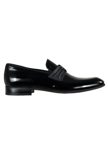 Luciano Bellini 152116 Siyah Rugan Erkek Klasik Hakiki Deri Ayakkabı Siyah